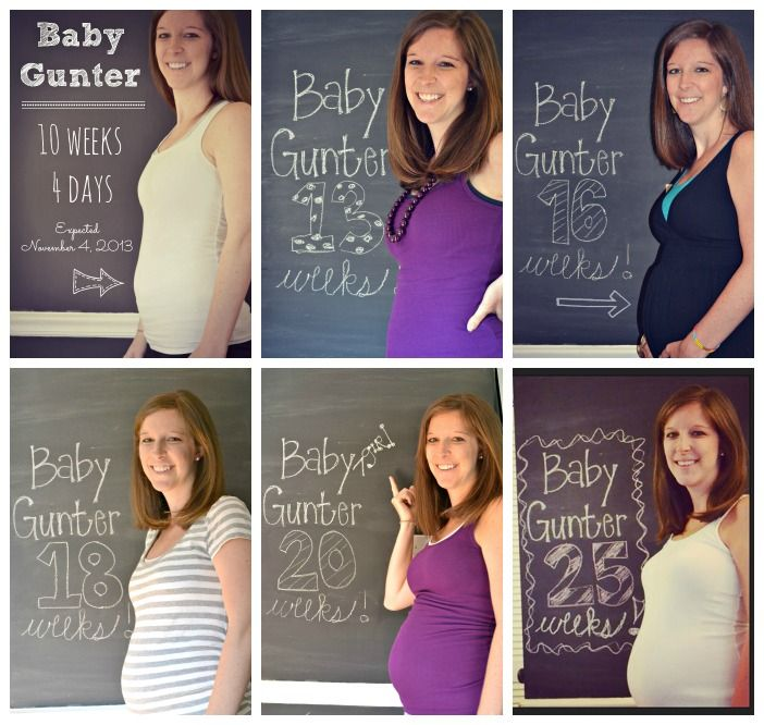 Chalkboard Wall Weeks Pregnant