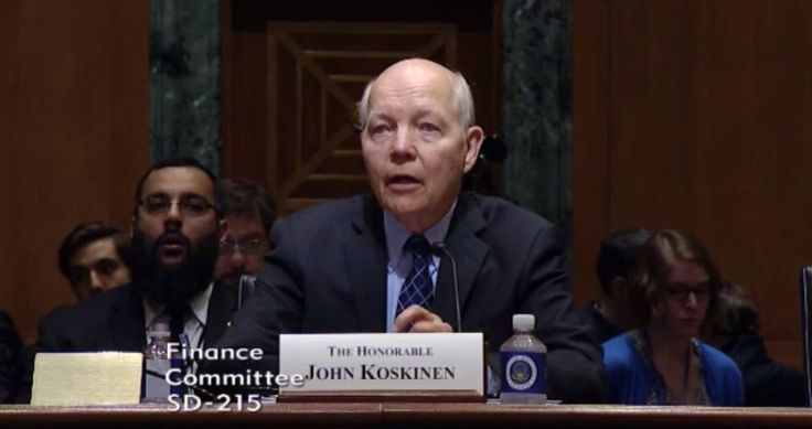 IRS Commissioner John Koskinen tells the Senate Finance Committee on April 6, 2017 that the IRS-FAFSA security breach exposed as many as 100,000 taxpayer accounts to tax identity thieves.