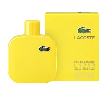 Noted: Fresh and citrusy, aromatic- fruity, eau de lacoste yellow represents sunshine rays in a bottle. Opening with accords of grapefruit, it develops into the heart of golden delicious apples. The base is aromatic-woody, made of cypress accords.  Designer: LACOSTE Release Year: 2015