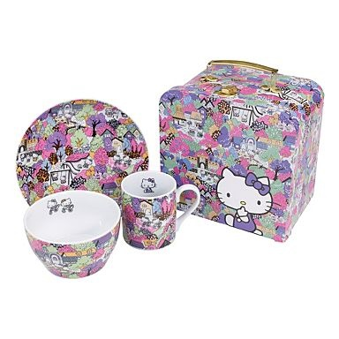 Purple 'Hello Kitty Town' dinner set - Dinnerware - boxed sets - Dinnerware - Home & furniture -
