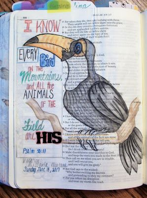 For the Love of Cardmaking: Bible art Share Using Psalm 50:11
