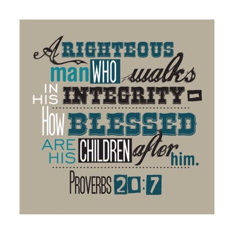 Wife Led by Faith: Happy Father's Day Proverbs 20:7