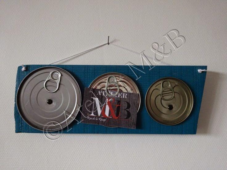 Atelier M&B: Les Couvercles de conserve: ne les jetez plus !!