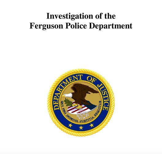 The Department of Justice has released a full report on the Ferguson Police Department's racist practices.