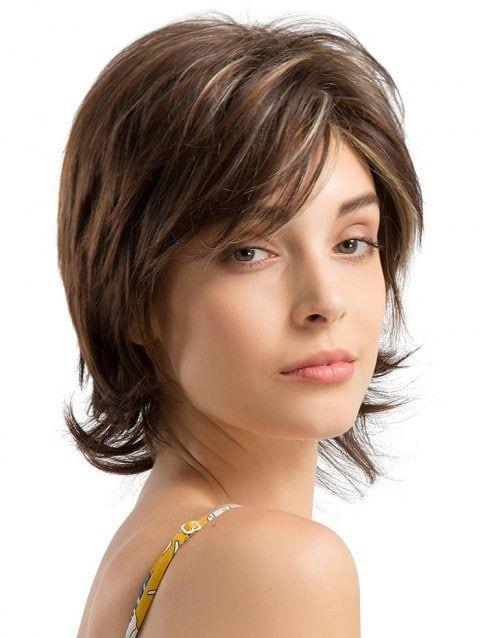 Short Side Fringe  Straight Capless Human Hair Wig, Short Side Straight Capless Human Hair Wig