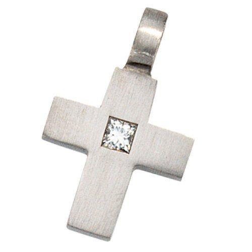 Dreambase Damen-Anhänger Kreuz 1 Diamant Platin 0.06 ct. ... https://www.amazon.de/dp/B0097R6HVI/?m=A37R2BYHN7XPNV