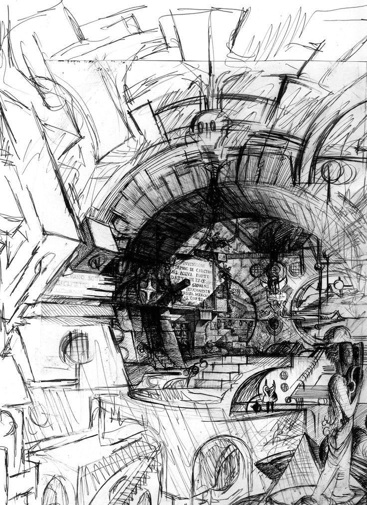 I dipinti di Romano Botti - Ampliamento grafico delle Carceri del Piranesi