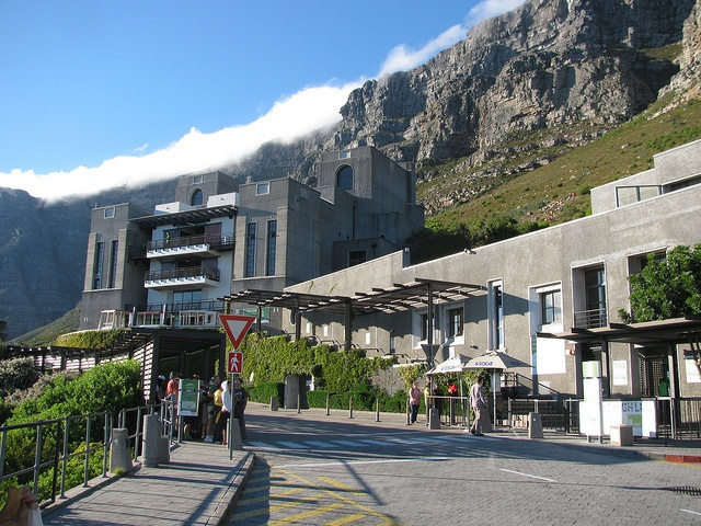 Table Mountain Cable car station. South Africa