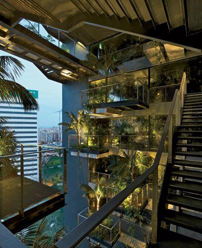 vertical garden at Renaissance Barcelona Fira Hotel, Ateliers Jean Nouvel, photo by Iñigo Bujedo Aguirre