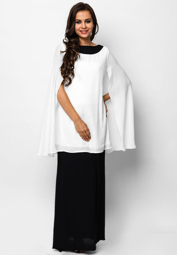 Luxe By Ethnic Chic Sophia Kyra Cape Baju Kurung