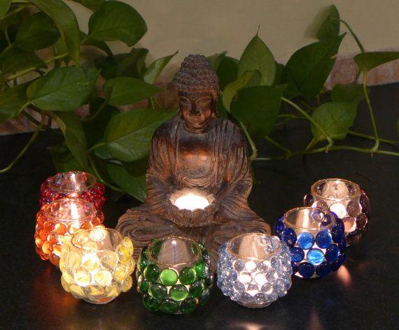 Chakra Candle Holders/7 Chakra/Chakra Votive by HerFaveRitThings