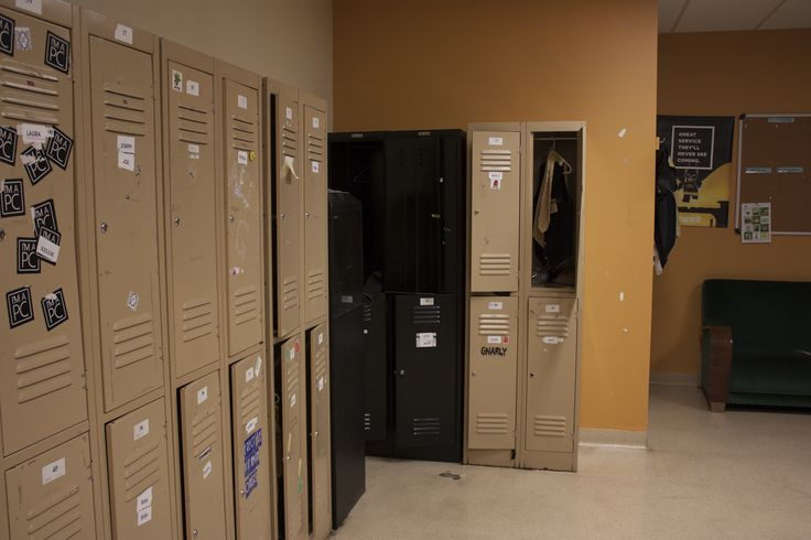 I like how empty the lockers are and the different colours in the image. It does look very bland and dull which adds do it's unique  character .