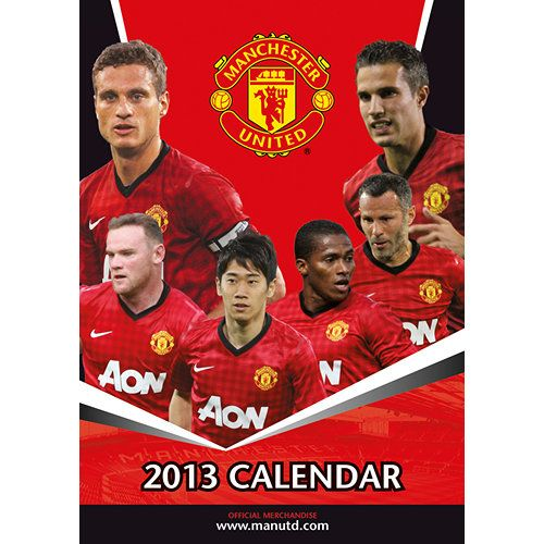 Manchester United Soccer Poster Calendar: Buy your Manchester United calendar for 2013 today! This poster-sized calendar features all of your favorite Manchester United FC players.  http://www.calendars.com/Soccer-Lacrosse-and-AFL/Manchester-United-Soccer-2013-Poster-Calendar/prod201300026069/?categoryId=cat00568=cat00568