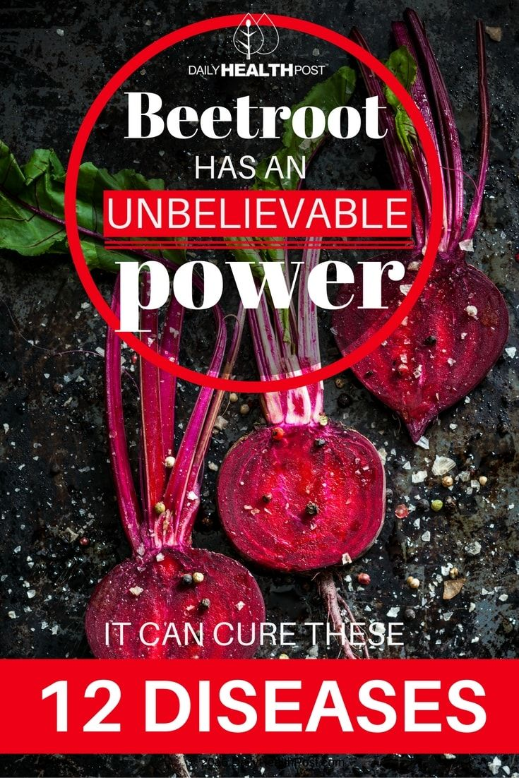 Beetroot Has An Unbelievable Power: It Can Cure These 12 Diseases via @dailyhealthpost