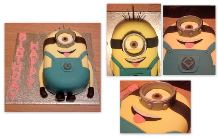 Minion Cake Another smaller/flat Minion version. | Cake ...
