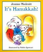 A large mouse family joyfully celebrates Hanukkah. Includes information on the the history and some of the traditions of this holiday.