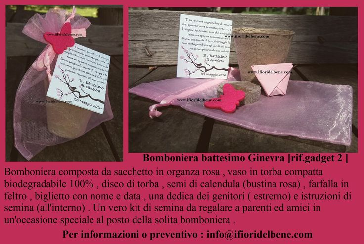 Bomboniera battesimo Ginevra [rif.gadget 2 ] http://www.ifioridelbene.com/articoli-promozionali/245-proposta-gadget-n2.html #bomboniereconsemi #bomboniereconsemidifiore #bomboniereoriginali #bomboniera #bomboniere #kitdisemina #regalino #idearegaloospiti #regaloinvitati #bomboniereecofriendly #ecofriendly #greenfavours #bombonieregreen