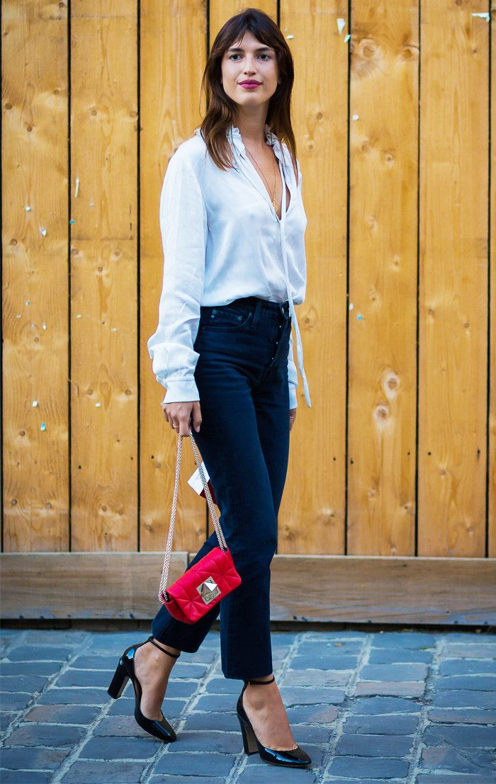 Five amazing going-out outfit ideas with jeans as seen on Lucy Williams, Rosie Huntington-Whiteley and more. Click to shop the looks.