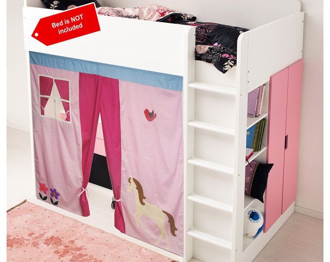 Bunk bed Playhouse / Bed tent / Loft bed curtain - free design and colors customization