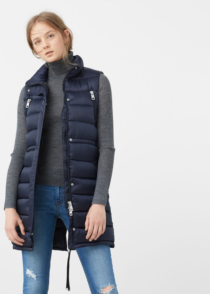 Quilted gilet - Jackets for Woman | MANGO USA