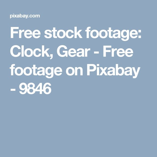 Free stock footage: Clock, Gear - Free footage on Pixabay - 9846