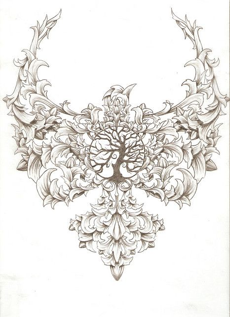 Tree Of Life Tattoo with bird.....I would change to a phoenix and put in the middle of my back. I LOVE THIS!!!