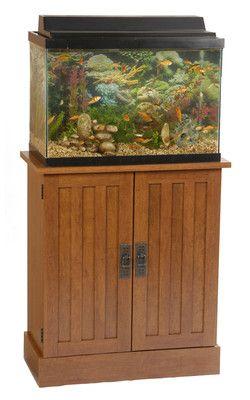 Aquarium Stands   29 Gallon Mission Style Aquarium Stand w/ Cabinet