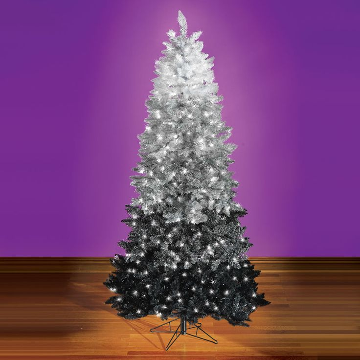 The Black Ombré Christmas Tree - Hammacher Schlemmer ...