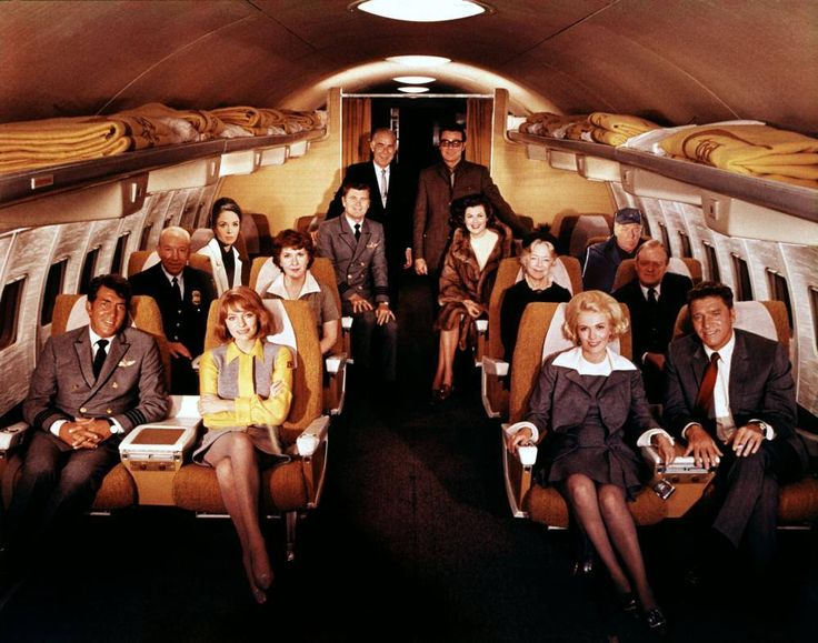 """One is a Stowaway, One has a Bomb, and, one is having Dinos' Baby in this """" plane wreck """" of a movie. Dean Martin, Jacqueline Bisset, Jean Seberg, Burt Lancaster, Lloyd Nolan, Maureen Stapleton, Helen Hayes, Van Heflin, Dana Wynter, Barry Nelson, Barbara Hale, George Kennedy, George Seaton ( director ) and ( producer) Ross Hunter, in """" AIRPORT """" 1970"""