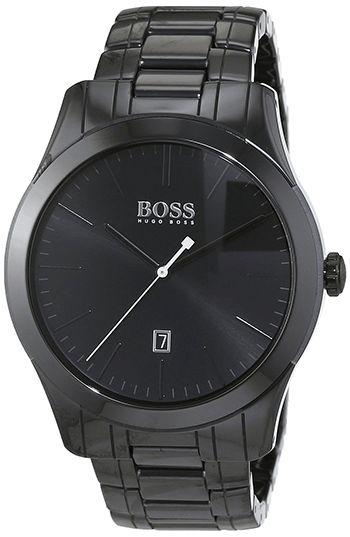 Montre Hugo Boss Ambassador - 1513223 - Quartz - Analogique - Bracelet - Cadran en Acier inoxydable Noir - Date