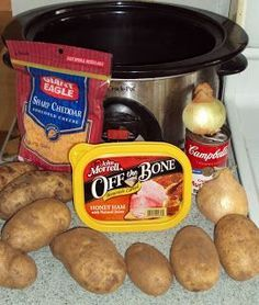 Crockpot Tuesday – Scalloped Potatoes & Ham.  Make it Frugal by using Lunchmeat that you get on sale.