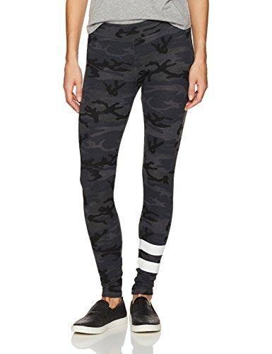 Sundry Women's Camo Yoga Pant with Stripes