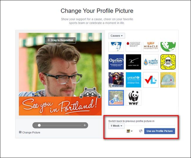 With Facebook's temporary profile picture feature, you no longer have to remember to switch your profile picture back after a holiday or observance–they'll do it automatically for you.