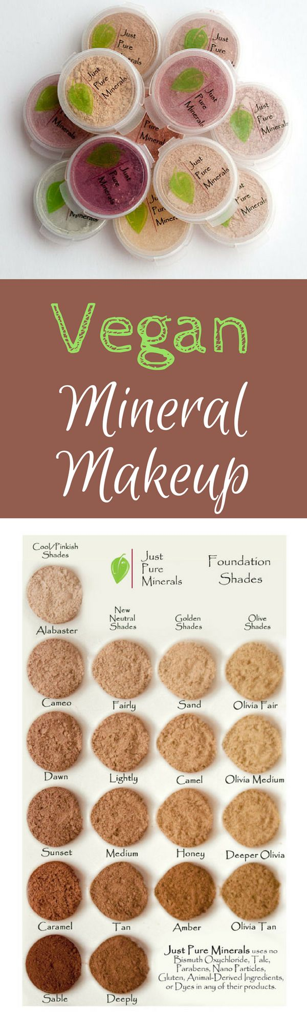 Our Foundation, Setting Powder, and Mineral Veil samples can last about a week; blush and concealer can last for several weeks! Plenty of time to see yourself in every conceivable light to see if you really, reeeeally love it. #vegan #makeup #beauty #affiliate