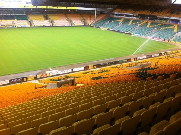 NorwichCityFC: The pitch at Carrow Road