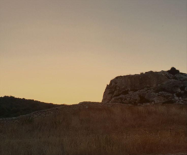 Italy, Puglia, Porto Miggiano. Sunset in the silence of nature