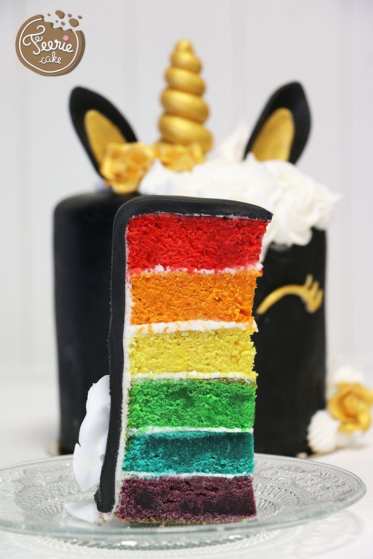 La licorne rainbow cake