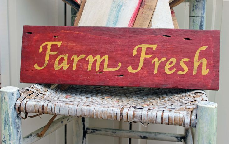 farm fresh vintage style wood sign