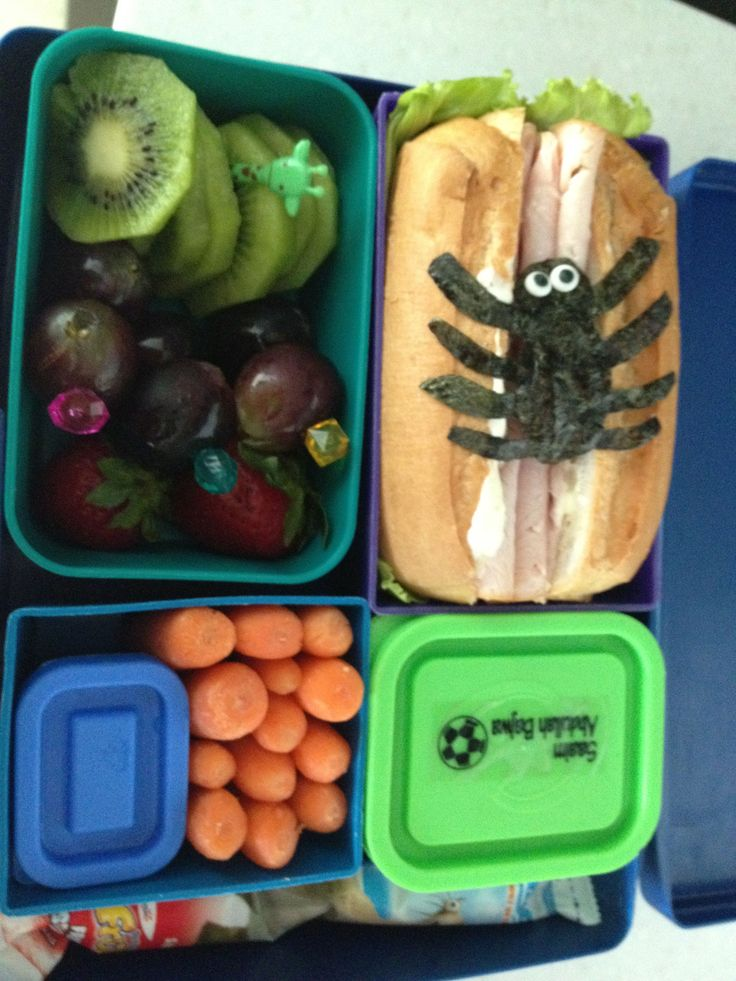 Eek...there's a spider on my lunch!