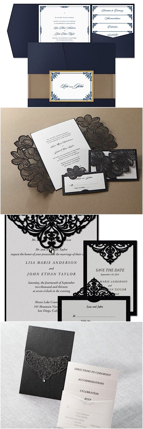 muslim wedding card invitation quotes%0A Elegant wedding invitations from Bweddinginvitations