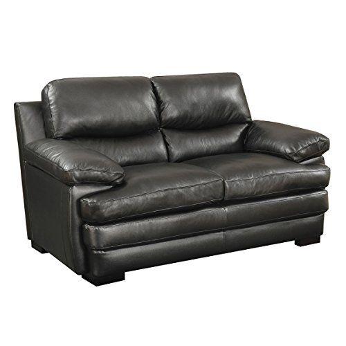 Wilton Black Leather Match Loveseat Love Seat Power Reclining