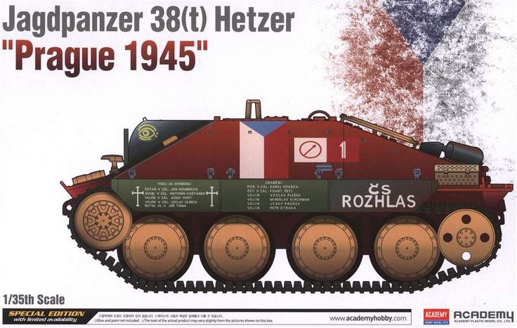 Wehrmacht tank destroyer based on modified Czech 38(t) medium tank chassis - Czech resistance captured variant without the standard PaK 39 L/48 gun as used in the May 1945 Prague uprising.