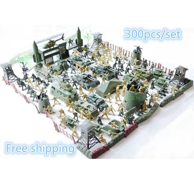 (38.85$)  Watch more here  - Set plastic toy small soldier boy sand table model toy Full 300pcs/set soldier Military Bases Set classic toys Free shipping