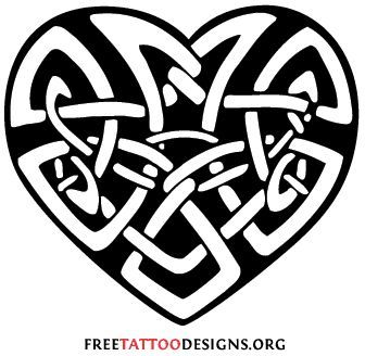 A Celtic heart tattoo symbolizes the union of souls and is a good tattoo to express your devotion to your loved ones. They are also known as love knot tattoos. #Good tattoos for you.#Love it!#