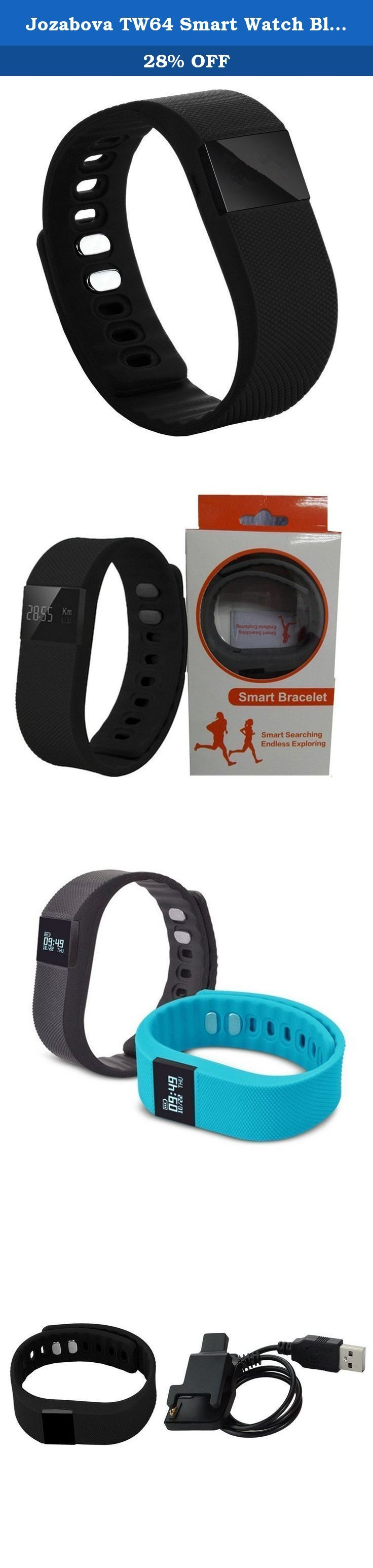 Jozabova TW64 Smart Watch Bluetooth Watch Bracelet Smart band Calorie Counter Wireless Pedometer Sport Activity Tracker For iPhone Samsung Android IOS Phone (Black). Standby time: 15 days. Your healthy monitor: Help you to keep a good habit,health and happiness follow you. Love life walking from now on: TW64 will record your step,distance and calorie,which can help you to set the target. Monitor your sleep:TW64 is able to detect how long you sleep,through its health software,count up your...