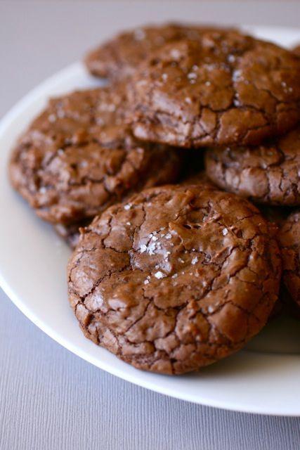 Salted Chocolate Chunk Cookies - taste like brownies!