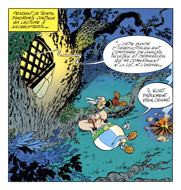 comic panel from 'Le Papyrus de César' by Jean-Yves Ferri and Didier Conrad (2015)