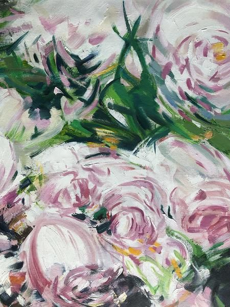 abstract flower oil painting lx75a celine ziang pinterest