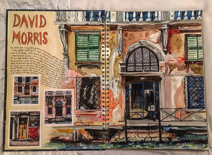 My artist research page inspired by David Morris.