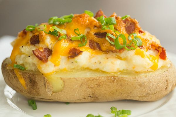 The Best Twice Baked Potatoes - Loaded baked potatoes meet mashed potatoes, and I could totally make a meal of just these and a salad.